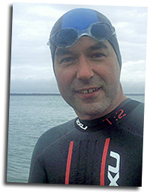 Mike prepares for another Solent swim