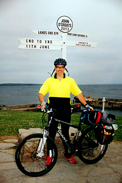 Mike Laird at John O'Groats