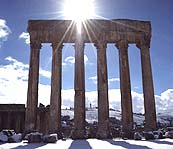 Columns in the snow